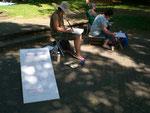 Malen und Zeichnen im Deutsch Französischen Garten