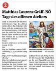 Vorankündigung in den Bezirksblättern Horn (Woche 39)