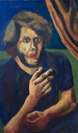 """ÜBERMALT   """"Mystisches Selbstportrait"""", Öl auf Leinwand, 91x95 cm, 2004"""