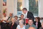 Dir. Günter Steindl mit dem Publikum (ua Wolfgang Andraschek, Dir. Anton Mück, Alexander Kiennast) (Foto GR Klaus Bergmaier, SPÖ Niederösterreich)