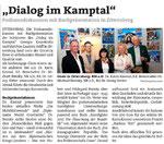 Bericht in den Bezirksblättern Horn (Woche 40)