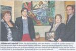 Helene Fuchs-Moser, Matthias Laurenz Gräff, Rosemarie Peter, Andreas Minnich. Pressebericht in der NÖN Horn (Woche 14) Copyright by Martin Kalchhauser