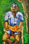 Der lesende Vater, 75x50 cm, 2002