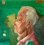"""Bildnis Rudolf Gräff (1919-2006)"", Öl auf Leinwand, 50x50 cm, 2005"