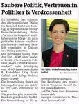 Vorankündigung in den Bezirksblättern Horn (Woche 36)