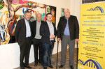 """Nationalrat Werner Groiß, Bernhard Görg -Vizebürgerm. und Landeshauptmann-Stellvertr. von Wien a. D., Gräff, Jörg Leiter (Präsident """"Österreichische Selbsthilfe Polyneuropathie""""). Foto - Martin Kalchhauser, NÖN Horn"""