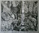 NICHT MEHR ERHÄLTLICH   Druckgrafik. Selbstportrait, 21x28 cm