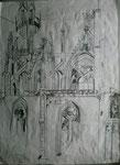 Meine V(M)otivkirche II, Bleistiftzeichnung, 2003