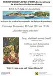Einladung zur Vernissage Matthias Laurenz Gräff. Eröffnung durch Andreas Minnich.