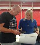 Werbung mit Ralf Schmidt und Steve Morse von Deep Purple