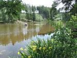 idyllisch gelegen der Rudersee