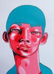 Yan Yan, Acrylic On Paper (24x18)