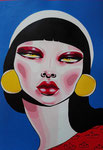 Cornelia Maximilla, Acrylic On Paper (30x20)
