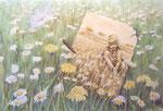 de schaduw van mijn jeugd, aquarel 49 x 60 cm