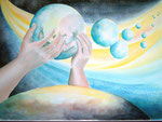 ruimte om te groeien, aquarel 44 x 61 cm