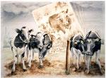 herinnering aan geluk, aquarel 50 x 65 cm