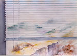 blik uit het raam, aquarel 48 x 67 cm