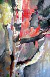 Tanz der Äste 2, Acryl auf Leinen, 140x95 cm