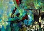 verzweigt, Acryl auf Leinen, 90x140cm