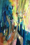 Lichtung, Acryl auf Leinen, 135x90 cm