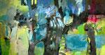 gewachsene Harmonie, Acryl auf Leinen, 110x200cm