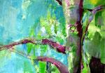 erstes Grün, Acyl auf Leinen, 90 x 140cm