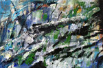 Unwetter, Acyl auf Jute, 80 x 120 cm