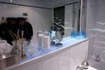 Großer Spiegel des Badezimmers