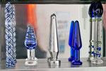 Edelstahl und Glasplugs