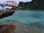 伊計島へ渡るための「伊計大橋」。