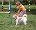 Joana & Famke, Agility-Training bei Dog City im Sommer 2009