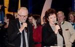 Bürgermeister Christian Gepp stellt sein Team in der Korneuburger Werft vor