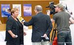 Vzbg. Helene Fuchs-Moser beim N1-TV-Interview