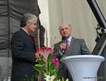 ORF Landesstudio Niederösterreich feiert den 45. Geburtstag (Wolfram Pirchner und LH Dr. Erwin Pröll)