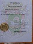 Certificado de Inscripción de la Iglesia Misión Pastoral (La Nueva Cosecha) Inc.