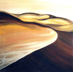 Die Wüste lebt, Öl auf Leinwand, 100/100 cm, Vivian Wieling, 350 Euro