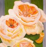 Rosen I, Öl auf Leinwand, 50/50 cm, Barbara Rank, 280 Euro