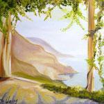 Küstensicht, Öl auf Leinwand, 50/50 cm, Vivian Wieling, 290 Euro