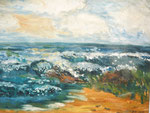 Meer, Öl auf Leinwand, 1 x 50/70, Barbara Rank, 150 Euro