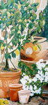 Terracotta, Öl auf Leinwand, 70/70 cm, Barbara Rank, 380 Euro
