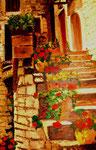 Italienische Treppe, Öl auf Leinwand, Barbara Rank, 70/90, 390 Euro