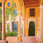 Italienischer Hof, Öl auf Leinwand, 90/140, Barbara Rank, 490 Euro