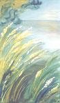Grünes Ufer, Öl auf Leinwand, 70/120 cm, Vivian Wieling, 490 Euro