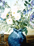 Blumenvase I, Aquarell, ca. A 4, Barbara Rank, 150 Euro
