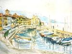 Hafen, Aquarell, ca. DIN A 4, Barbara Rank, 150 Euro