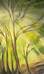 green oasis, Öl auf Leinwand, 95/150 cm, Vivian Wieling, 480 Euro