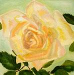 Rosen III, Öl auf Leinwand, 50/50 cm, Barbara Rank, 280 Euro