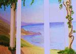 Küstensicht, Öl auf Leinwand, 3 x 70/180, Barbara Rank, 990 Euro
