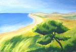 Long Island, Acryl auf Leinwand, 90/150 cm, Vivian Wieling, 470 Euro