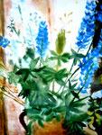 Blumenvase II, Aquarell, ca. A 4, Barbara Rank, 150 Euro
